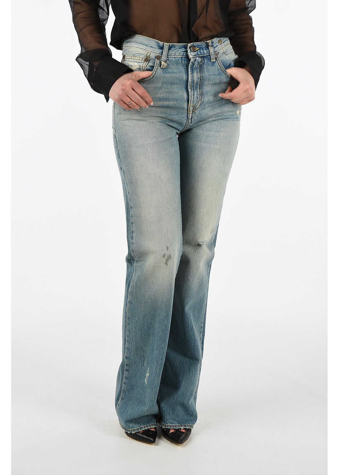 R13 stone washed COLLEEN jeans BLUE