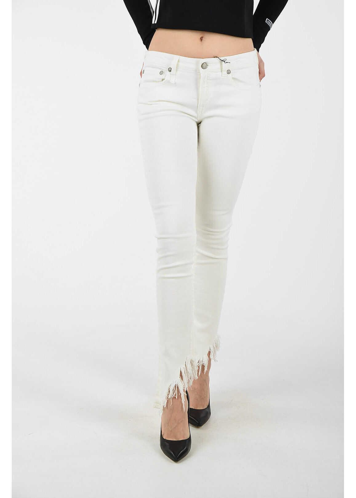 R13 fringed KATE jeans WHITE