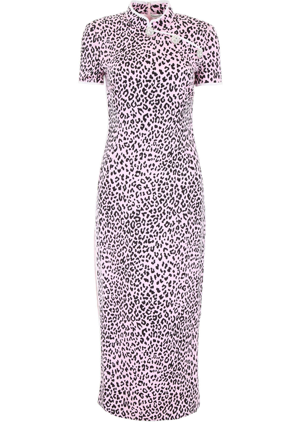 Alessandra Rich Leopard-Printed Dress LIGHT PINK