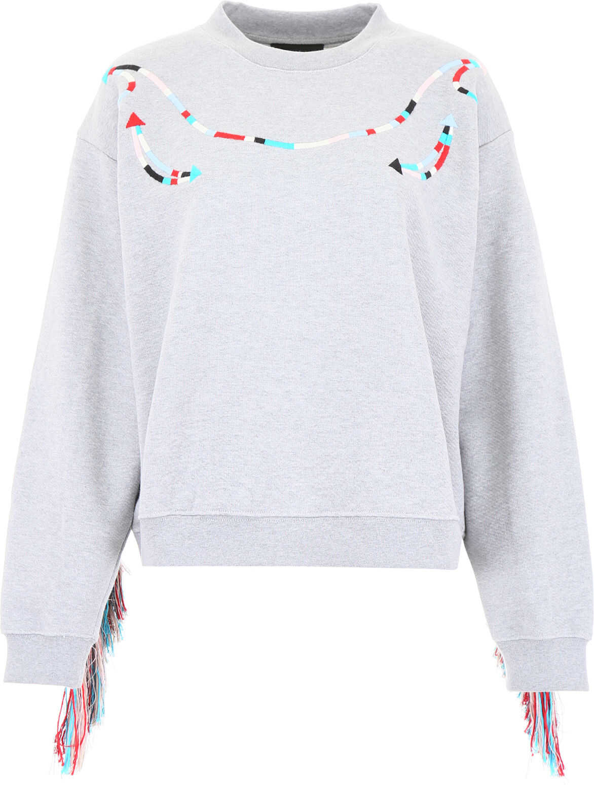 ALANUI Fringed Sweatshirt GREY MELANGE