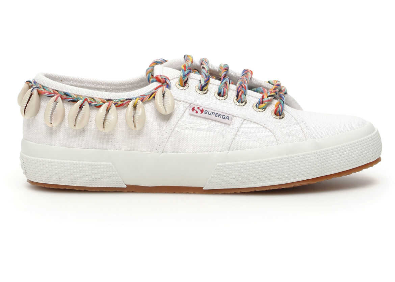 ALANUI Superga Shells Sneakers WHITE MULTI