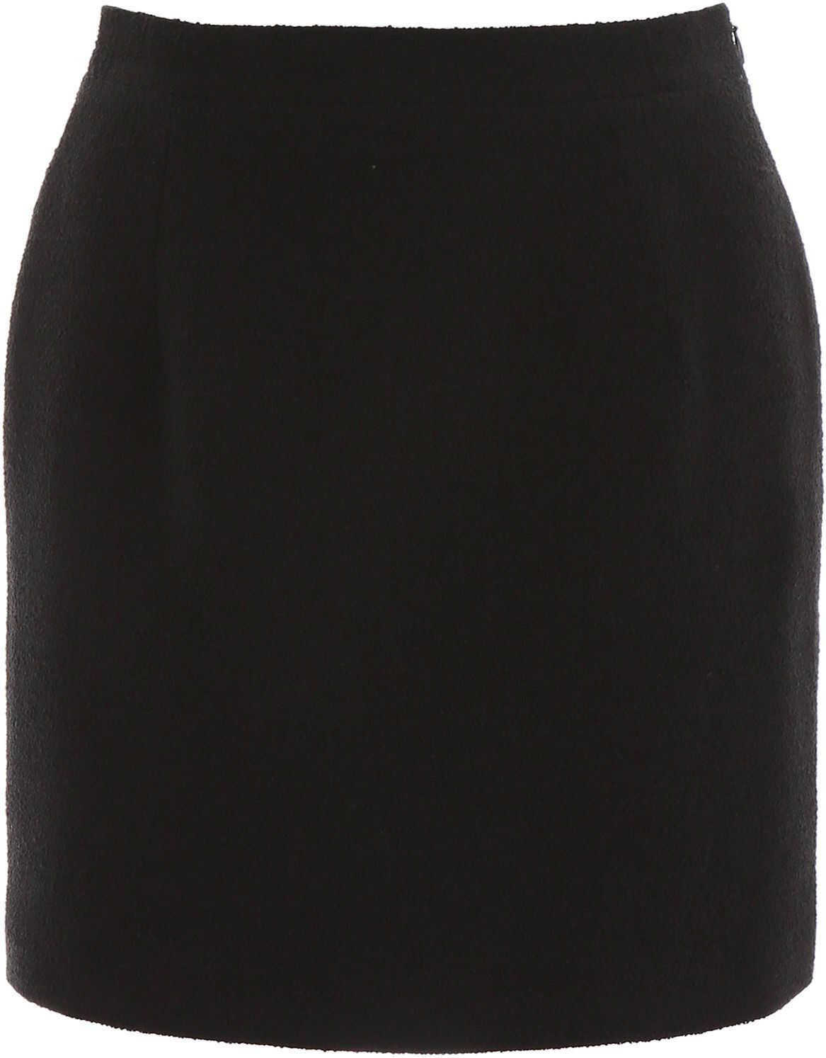Alessandra Rich Tweed Mini Skirt BLACK