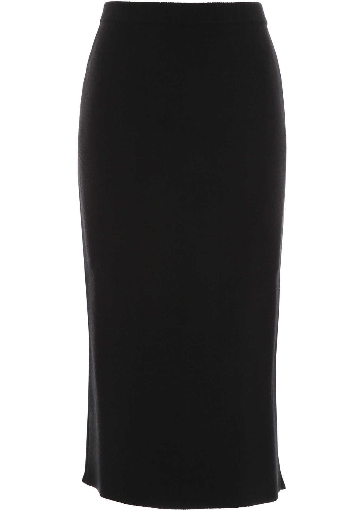 Alessandra Rich Wool Skirt BLACK