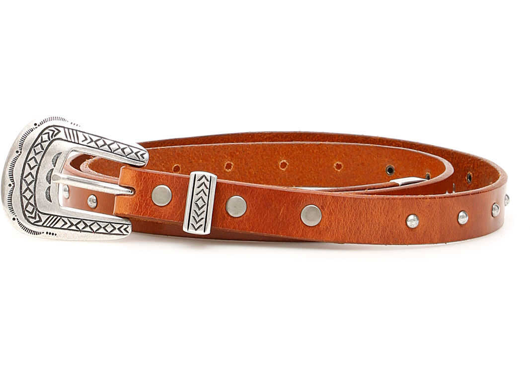 ALANUI Studded Belt BROWN