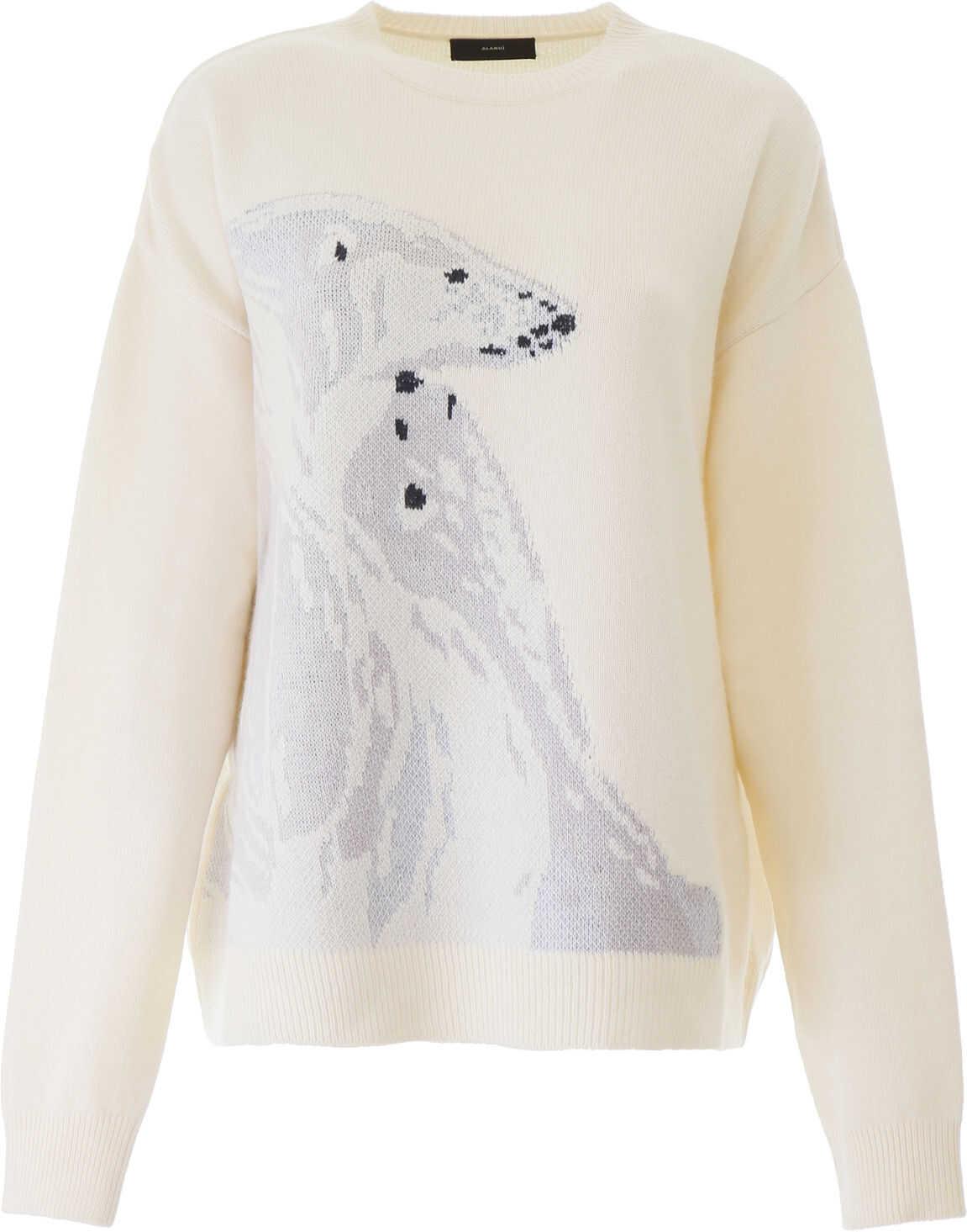 ALANUI Polar Bear Pullover WHITE MULTI