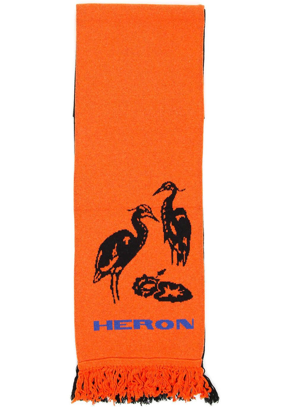 Heron Preston Bicolor Scarf MULTICOLOR ORANGE