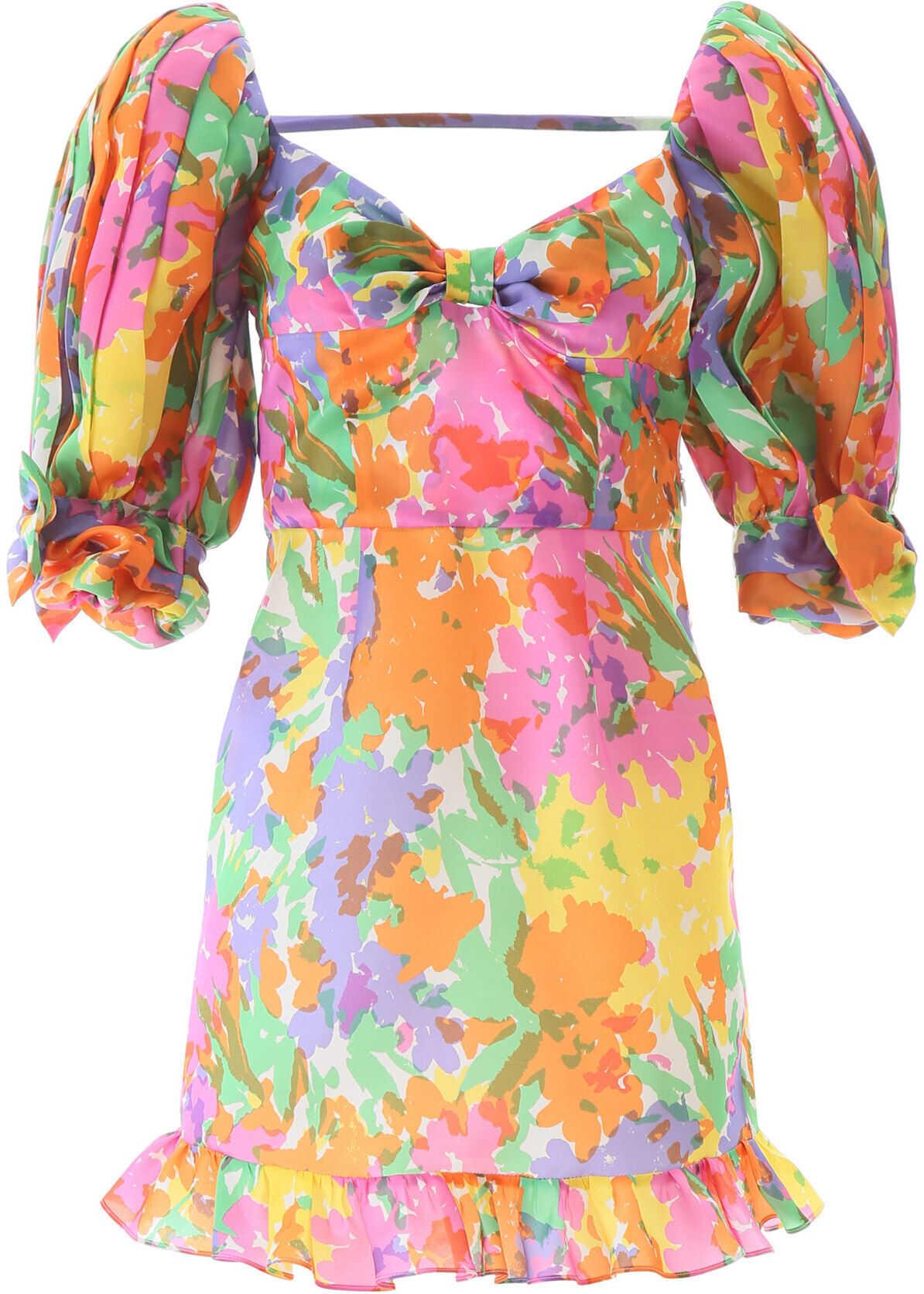 Alessandra Rich Multicoloured Mini Dres MULTICOLOR