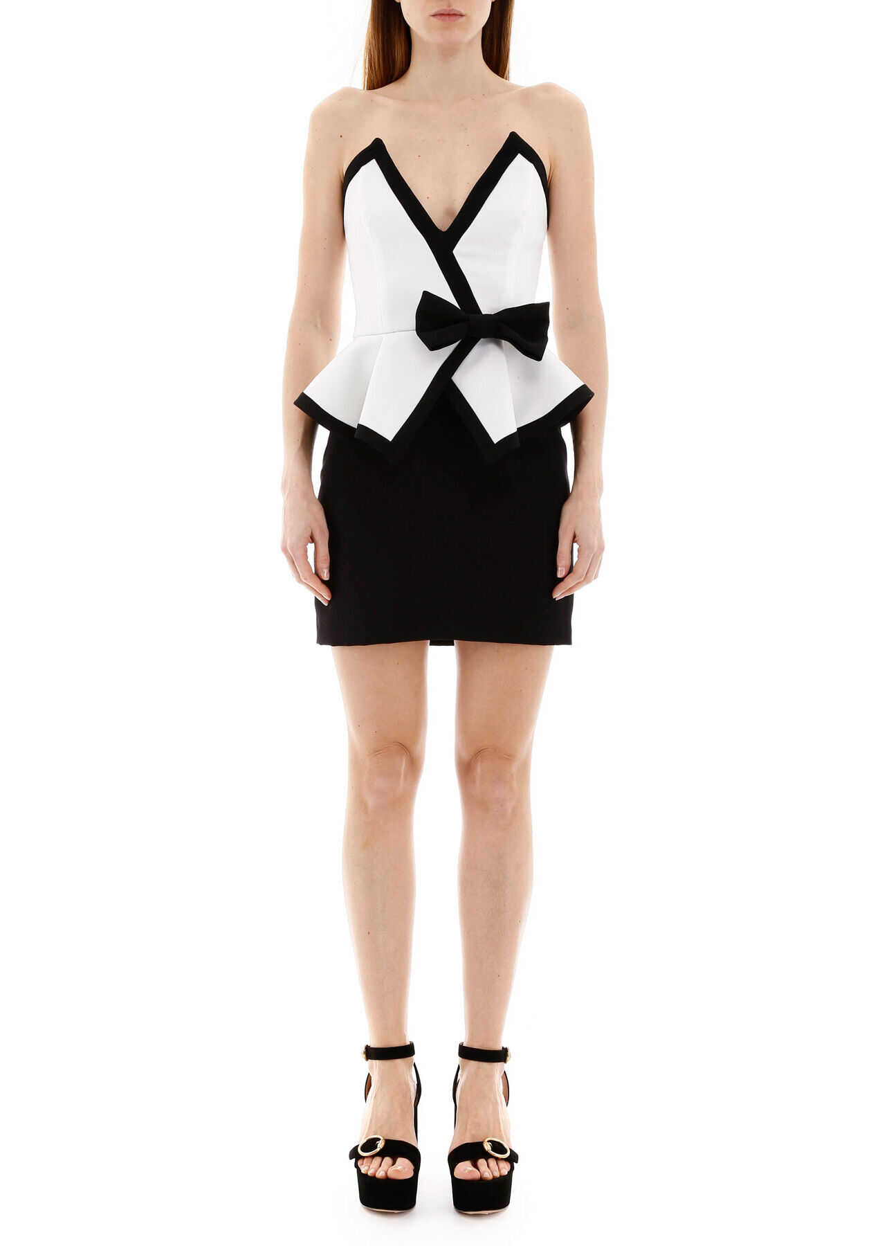 Alessandra Rich Mini Dress With Bow WHITE