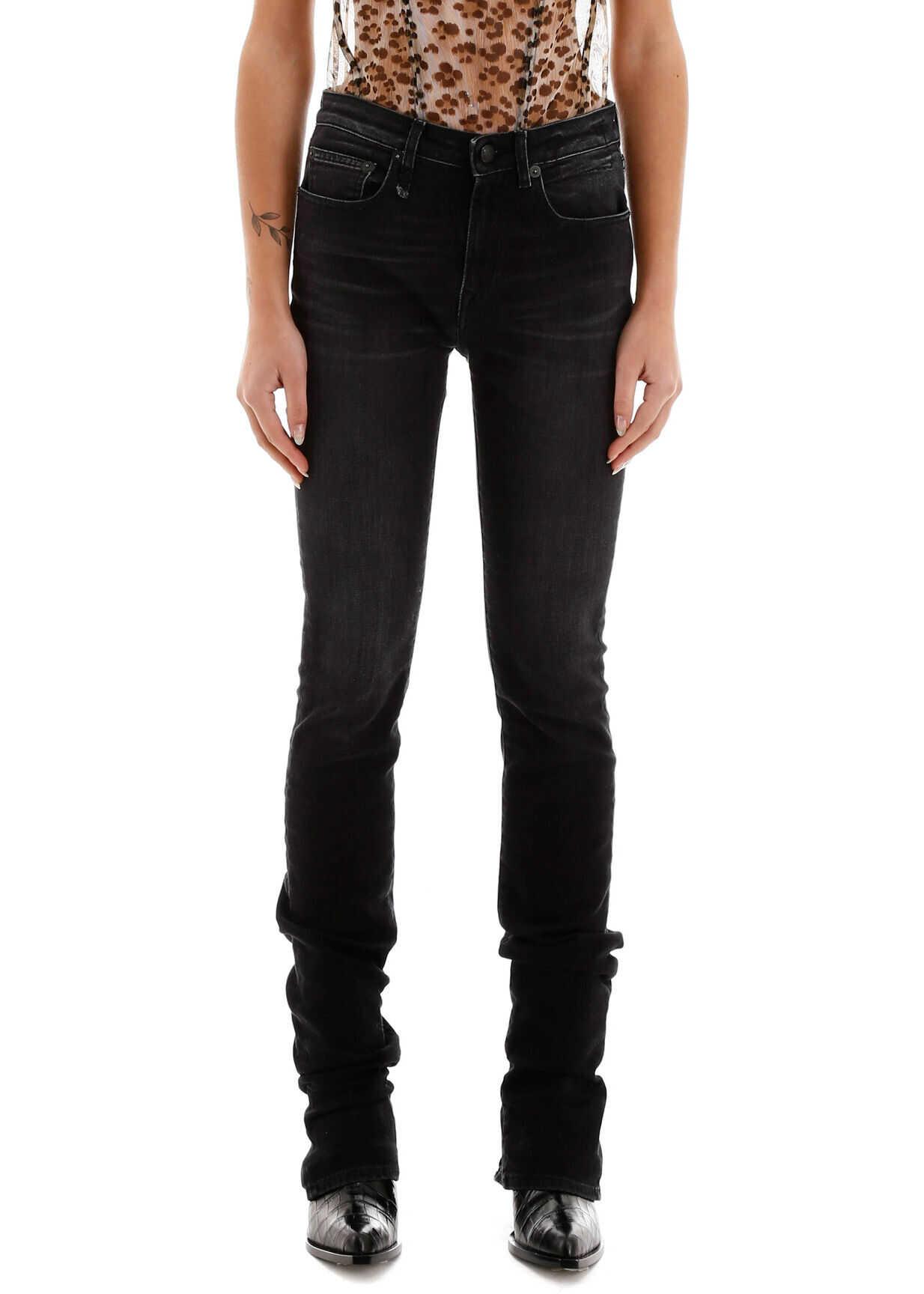 R13 Alison Slim Jeans RAYNE BLACK