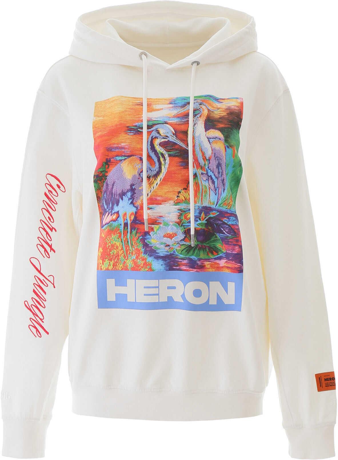 Heron Preston Heron Embroidery Hoodie WHITE MULTICOLOR