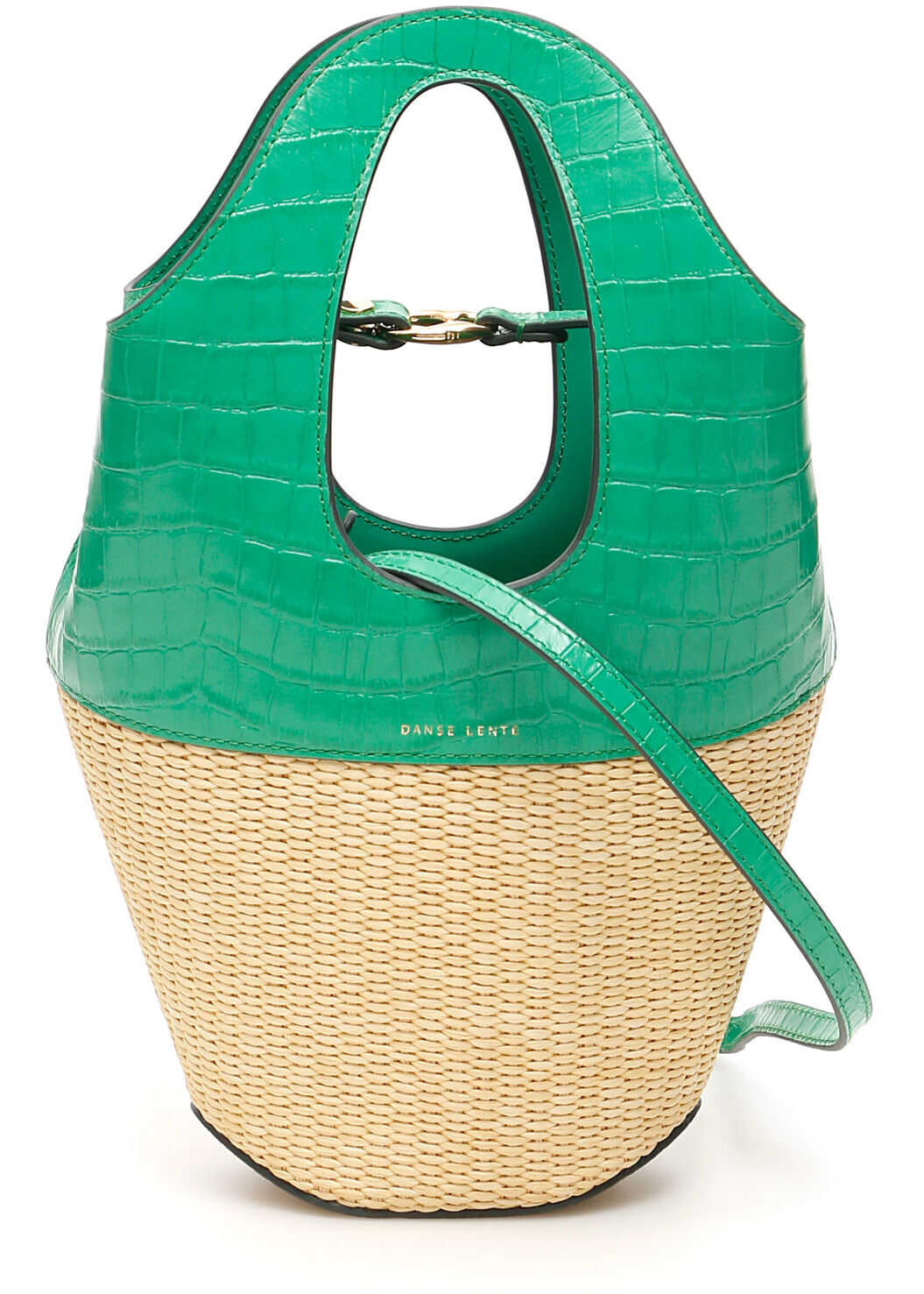 Danse Lente Small Tote Bag EMERALD RICE CROC
