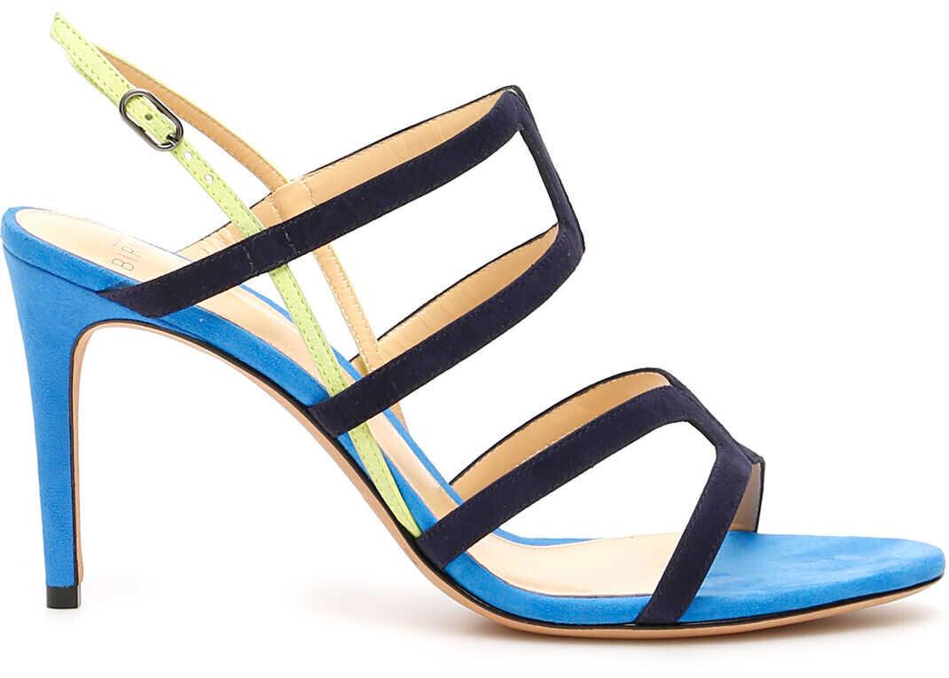 Alexandre Birman Multicolor Mena 85 Sandals NIGHT BLUE LEMON AZURE