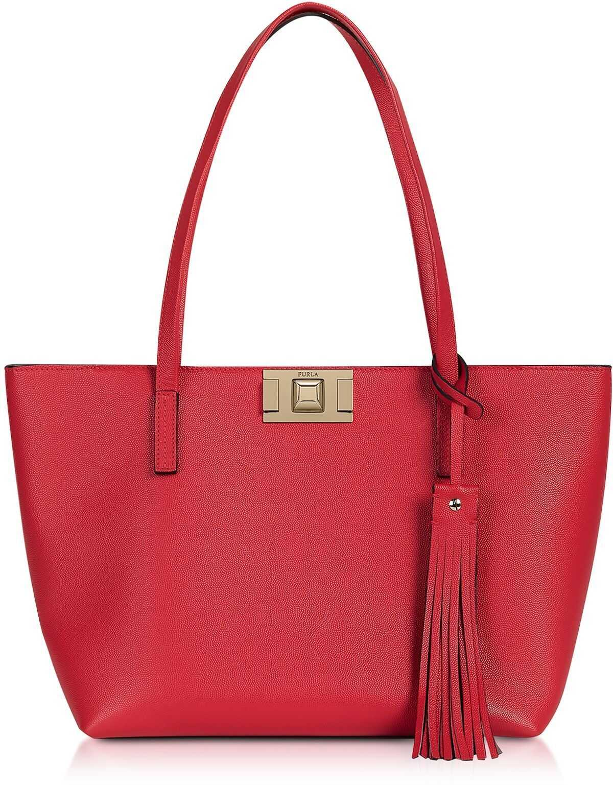 Furla Leather Tote RED