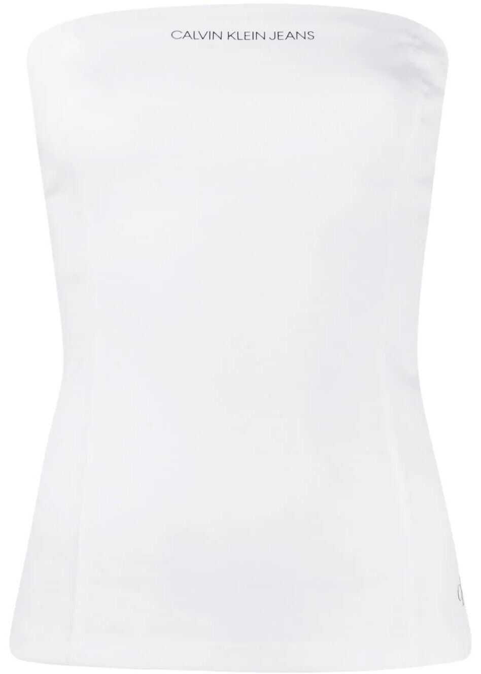 Calvin Klein Jeans Polyester Top WHITE