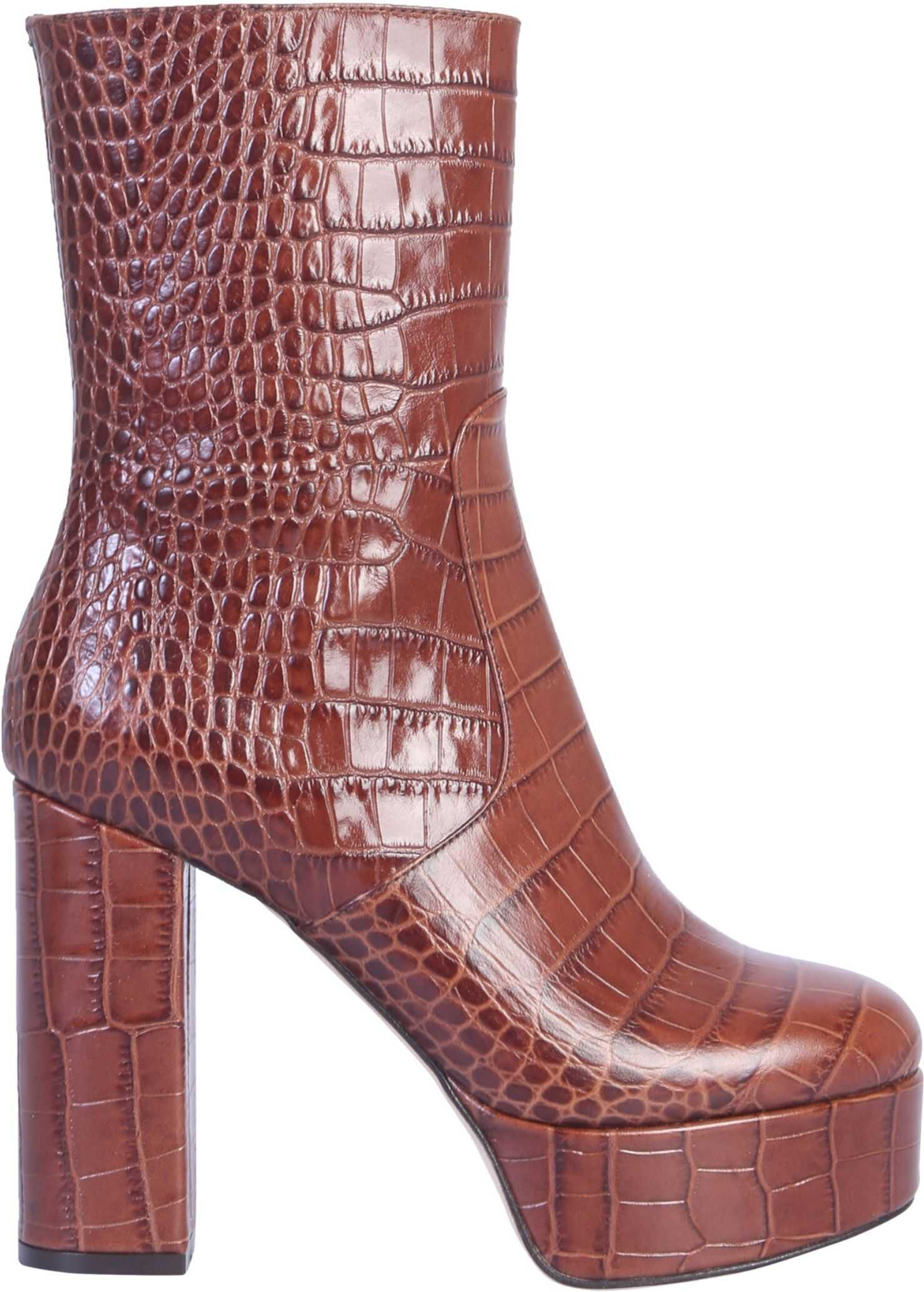 Paris Texas Boot With Plateau BROWN