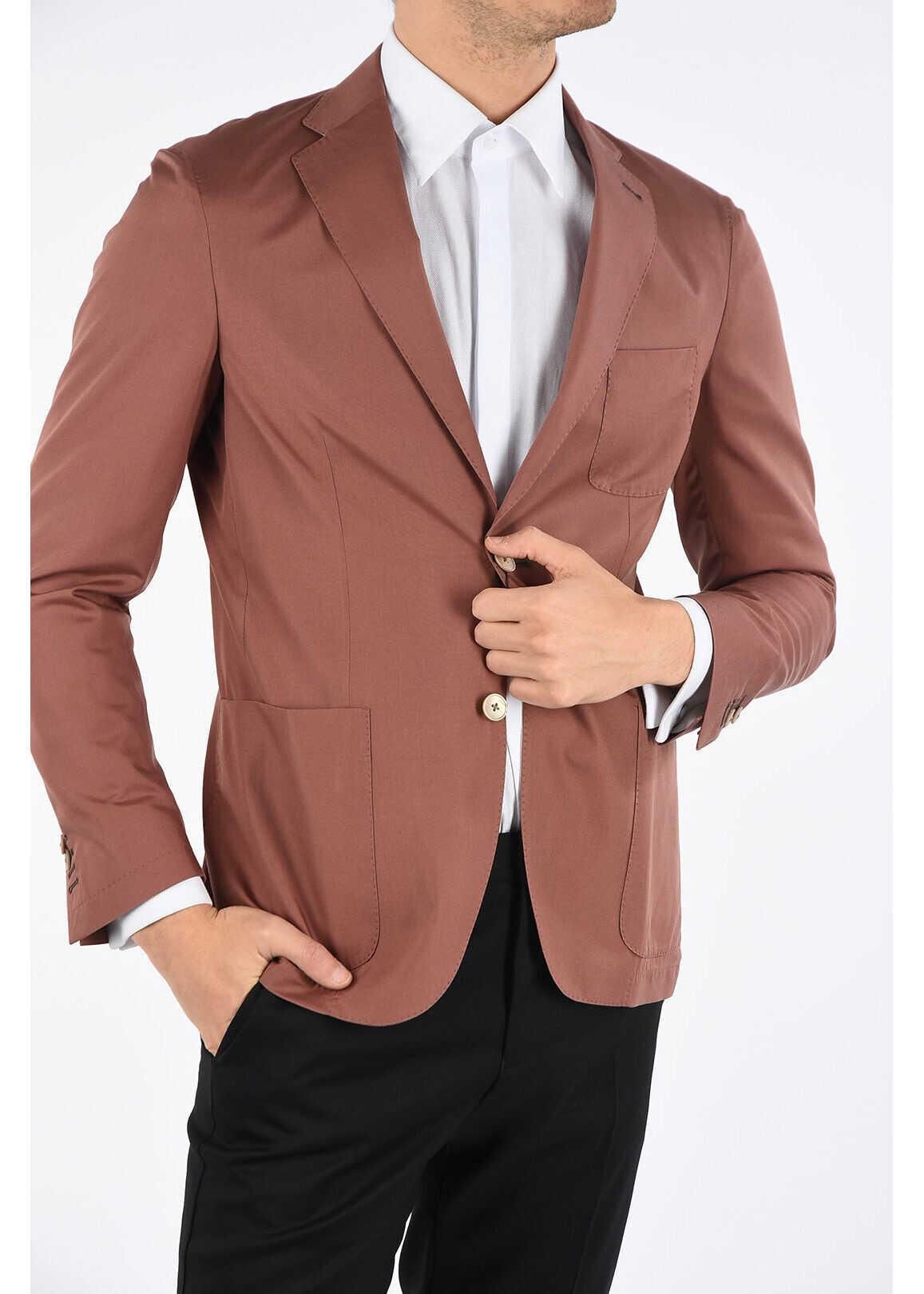 CORNELIANI ID silk side vents 2-button IDENTITY blazer BROWN imagine