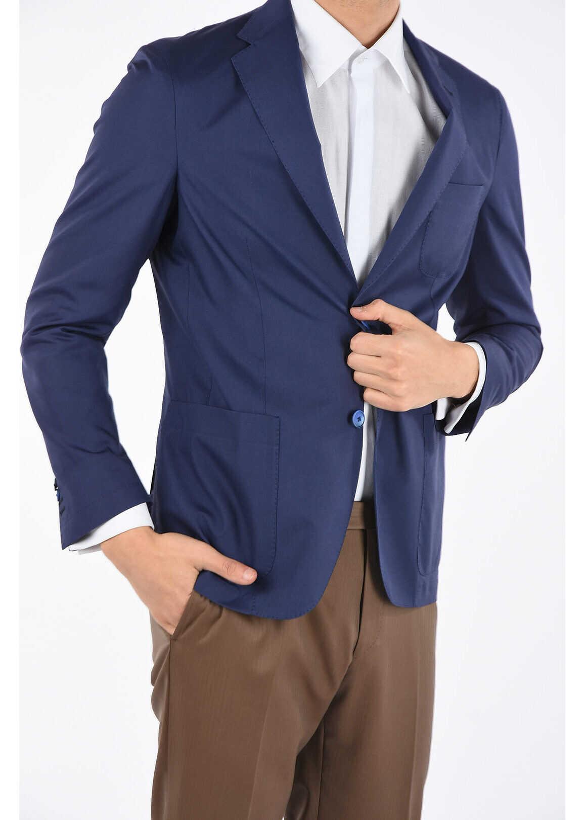 CORNELIANI ID silk IDENTITY blazer BLUE imagine