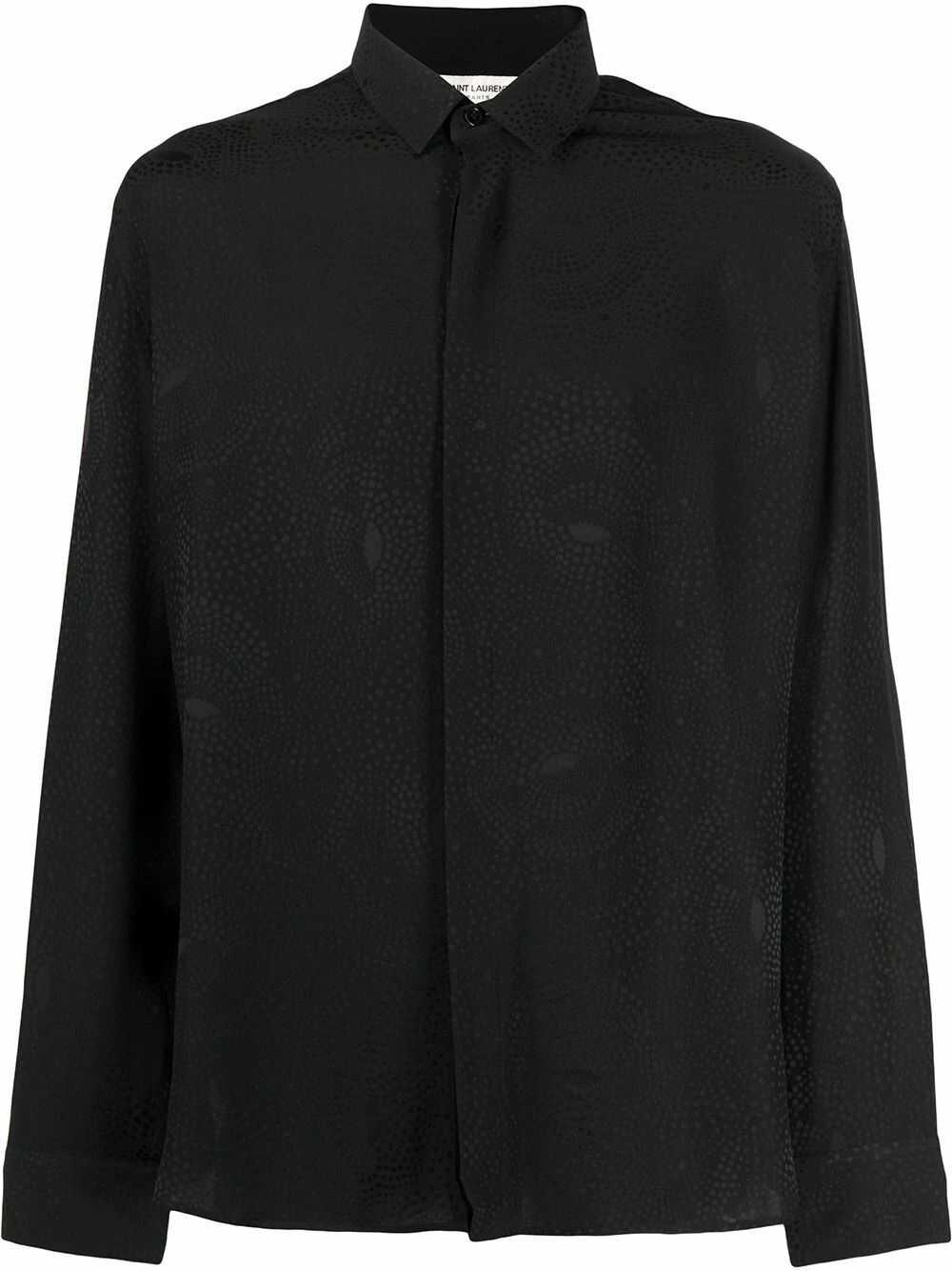 Saint Laurent Silk Shirt BLACK