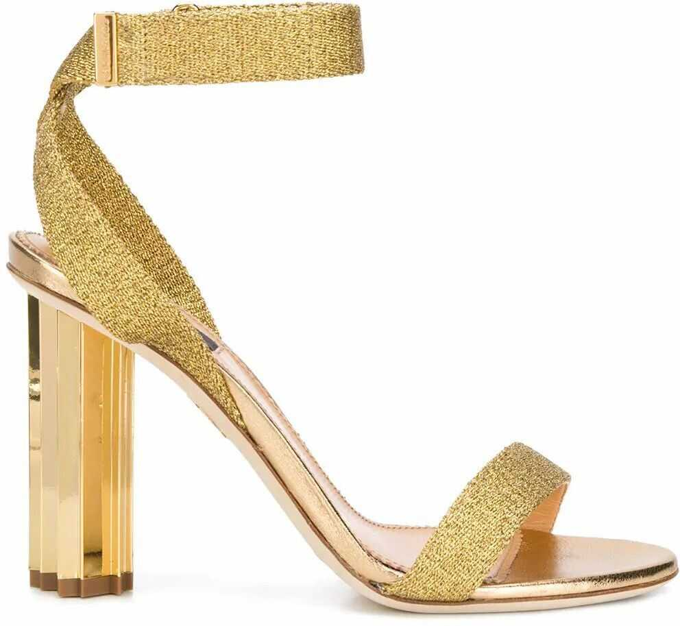 DSQUARED2 Leather Sandals GOLD