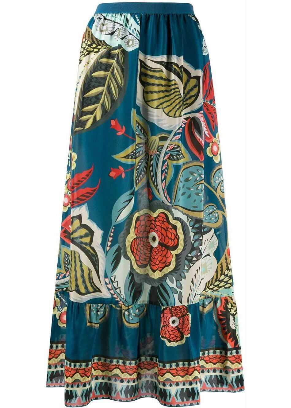 RED VALENTINO Silk Skirt BLUE