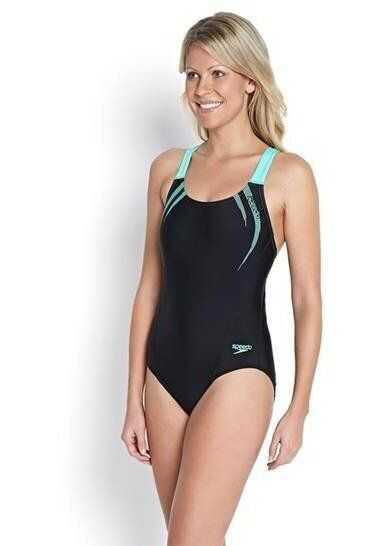 Speedo Strój Kąpielowy Sports Logo Medalist Swimsuit BLACK
