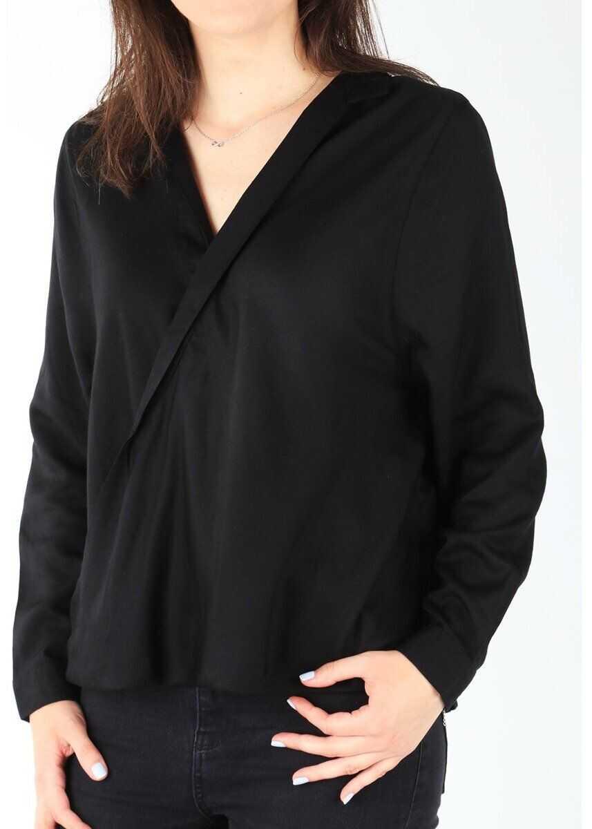Wrangler L/S Wrap Shirt Black BLACK