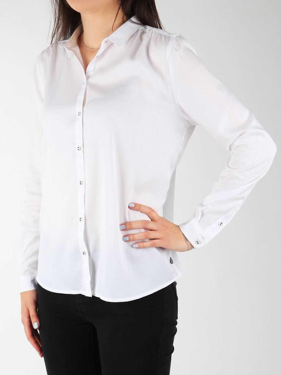 Wrangler L/S Relaxed Shirt WHITE