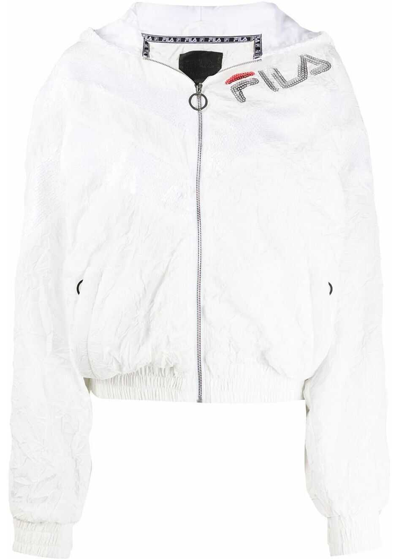 Fila Polyester Outerwear Jacket WHITE