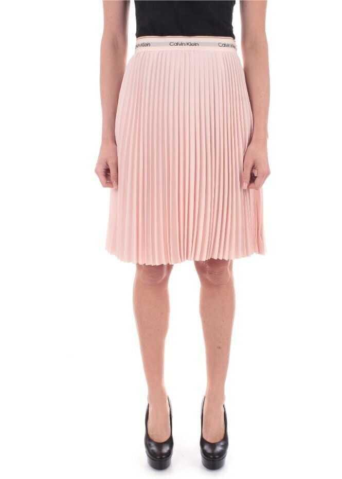 Calvin Klein Polyester Skirt PINK