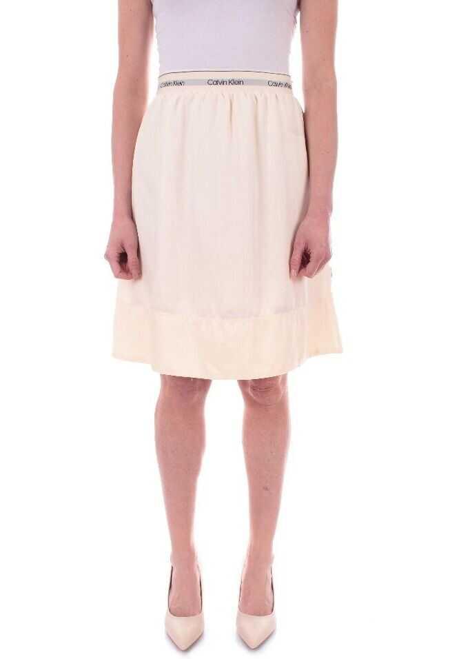 Calvin Klein Polyester Skirt BEIGE