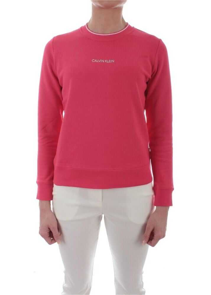 Calvin Klein Cotton Sweatshirt FUCHSIA