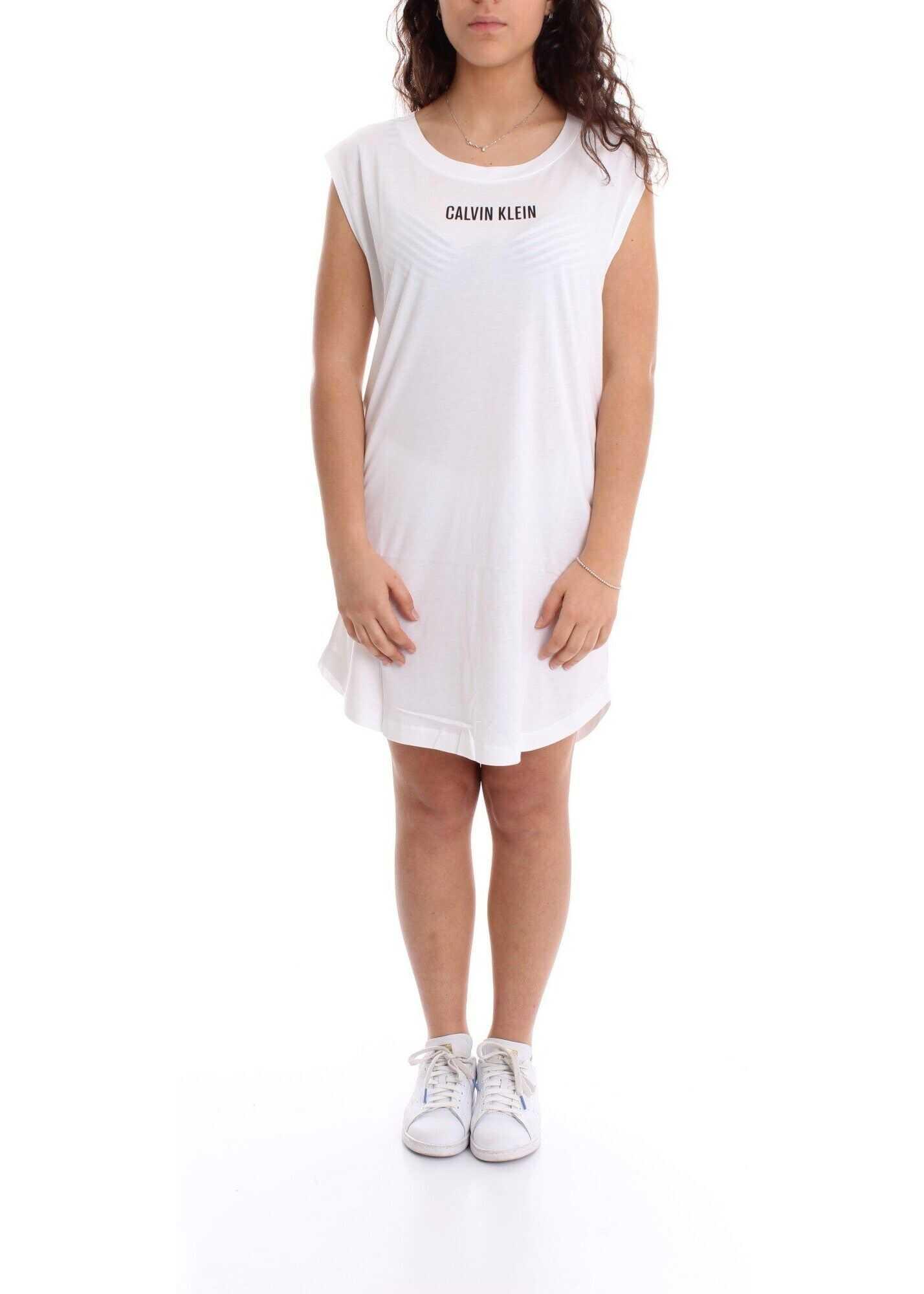 Calvin Klein Cotton Dress WHITE