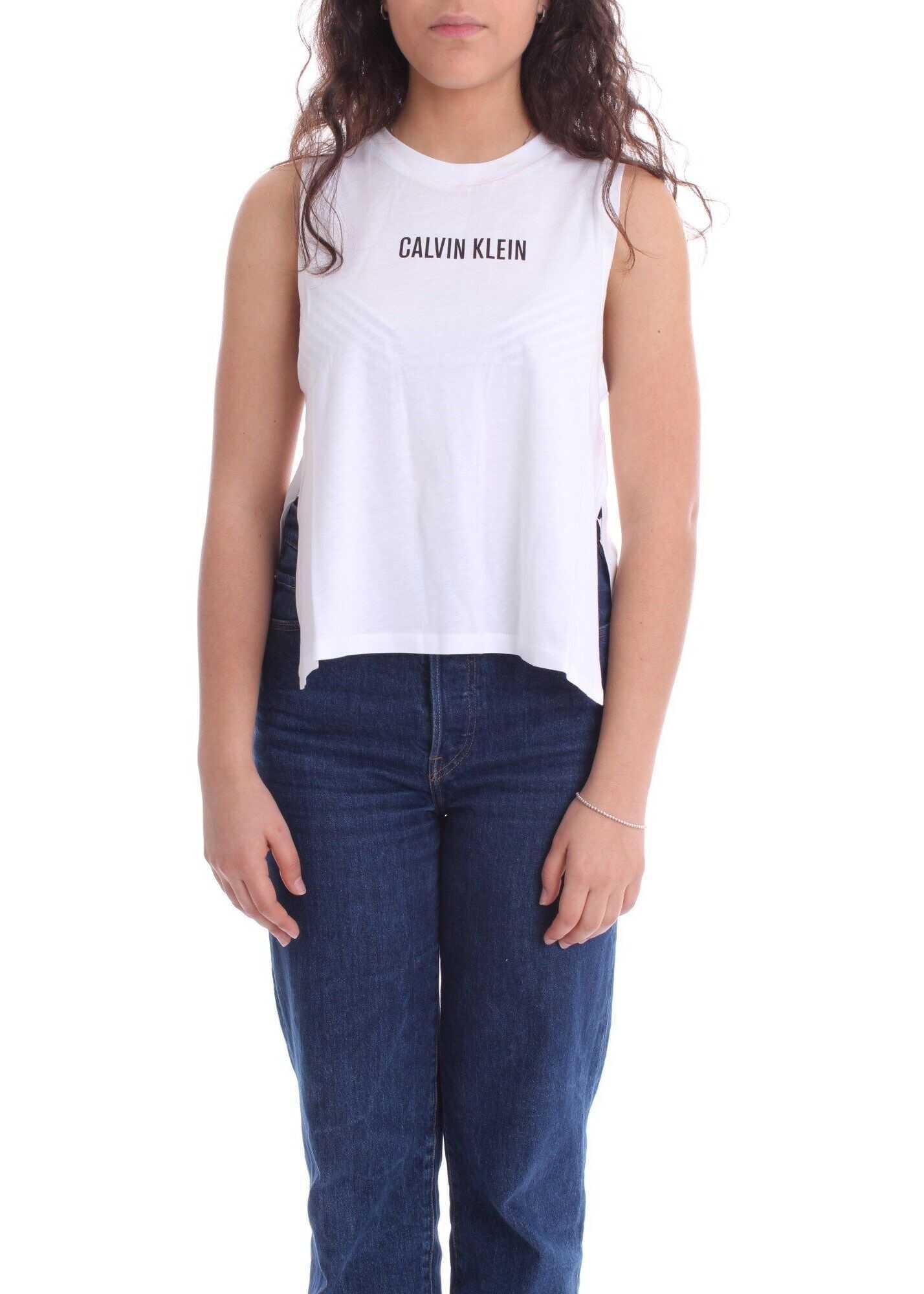 Calvin Klein Cotton Tank Top WHITE