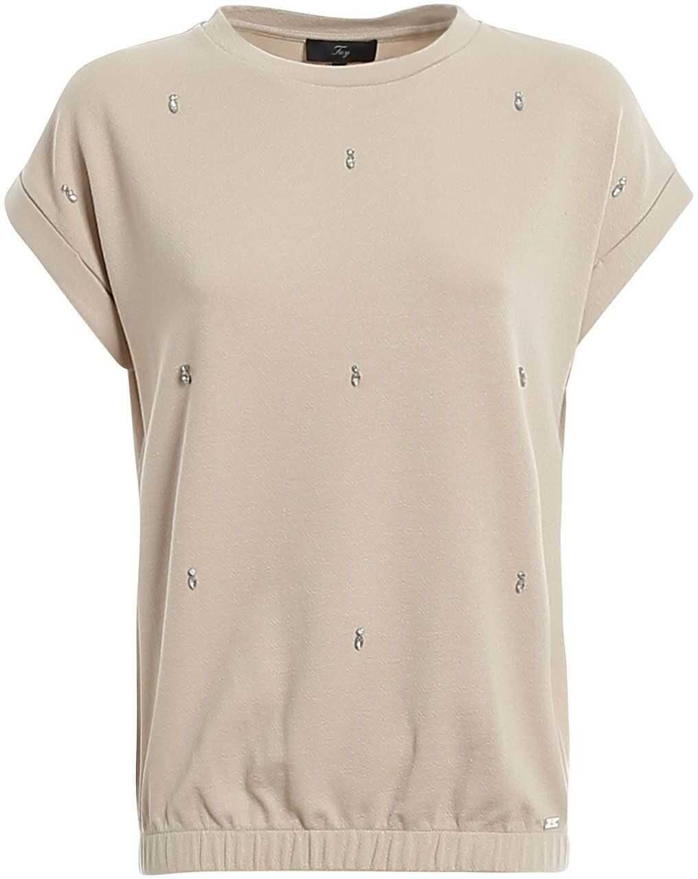 Fay Cotton T-Shirt BEIGE