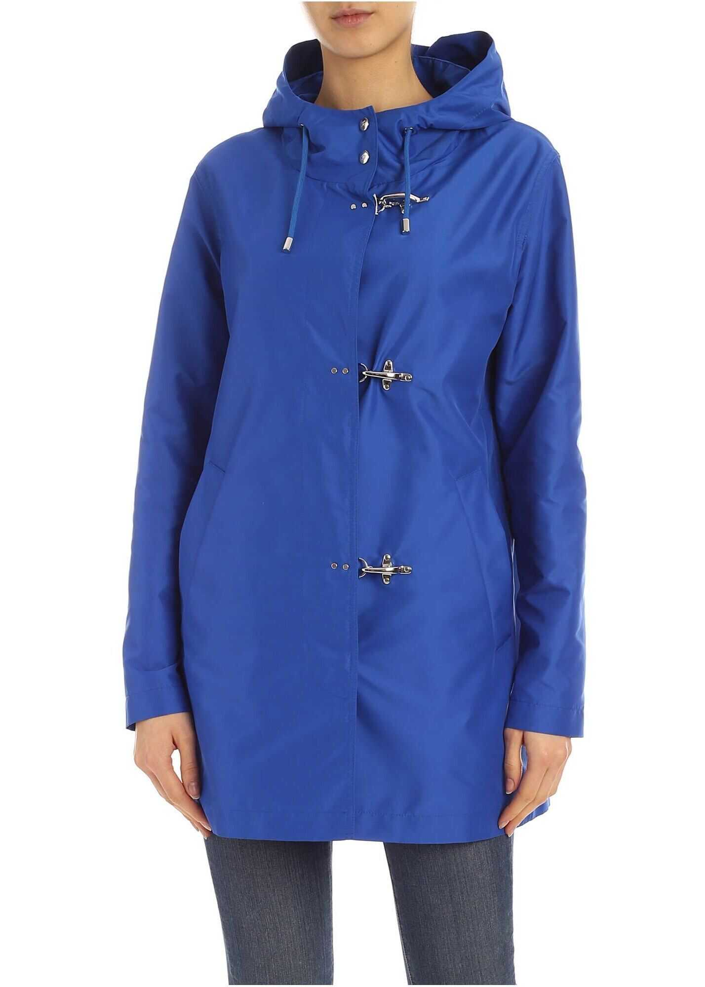 Fay Polyester Outerwear Jacket BLUE