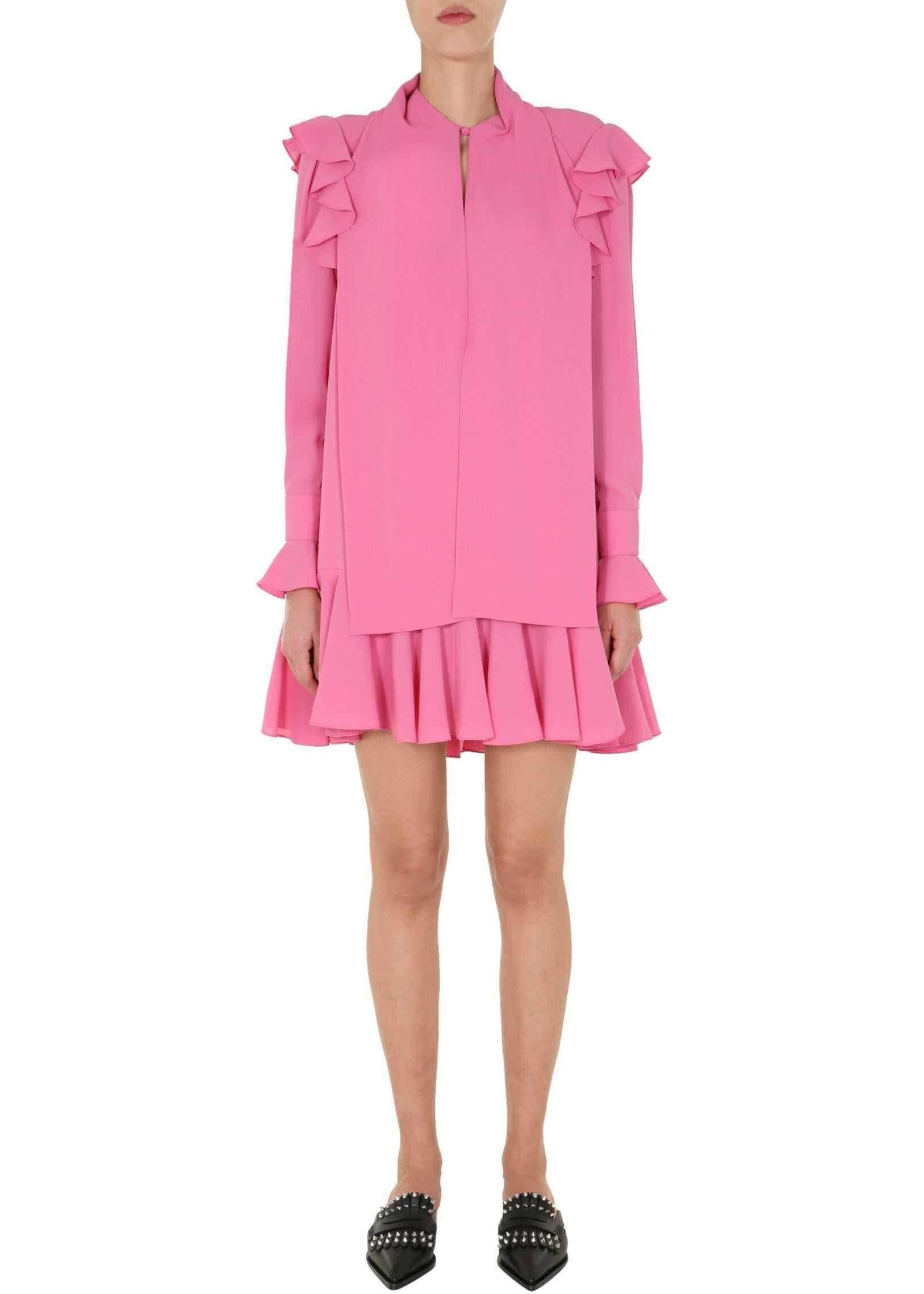 Alexander McQueen Dress With Ruches PINK