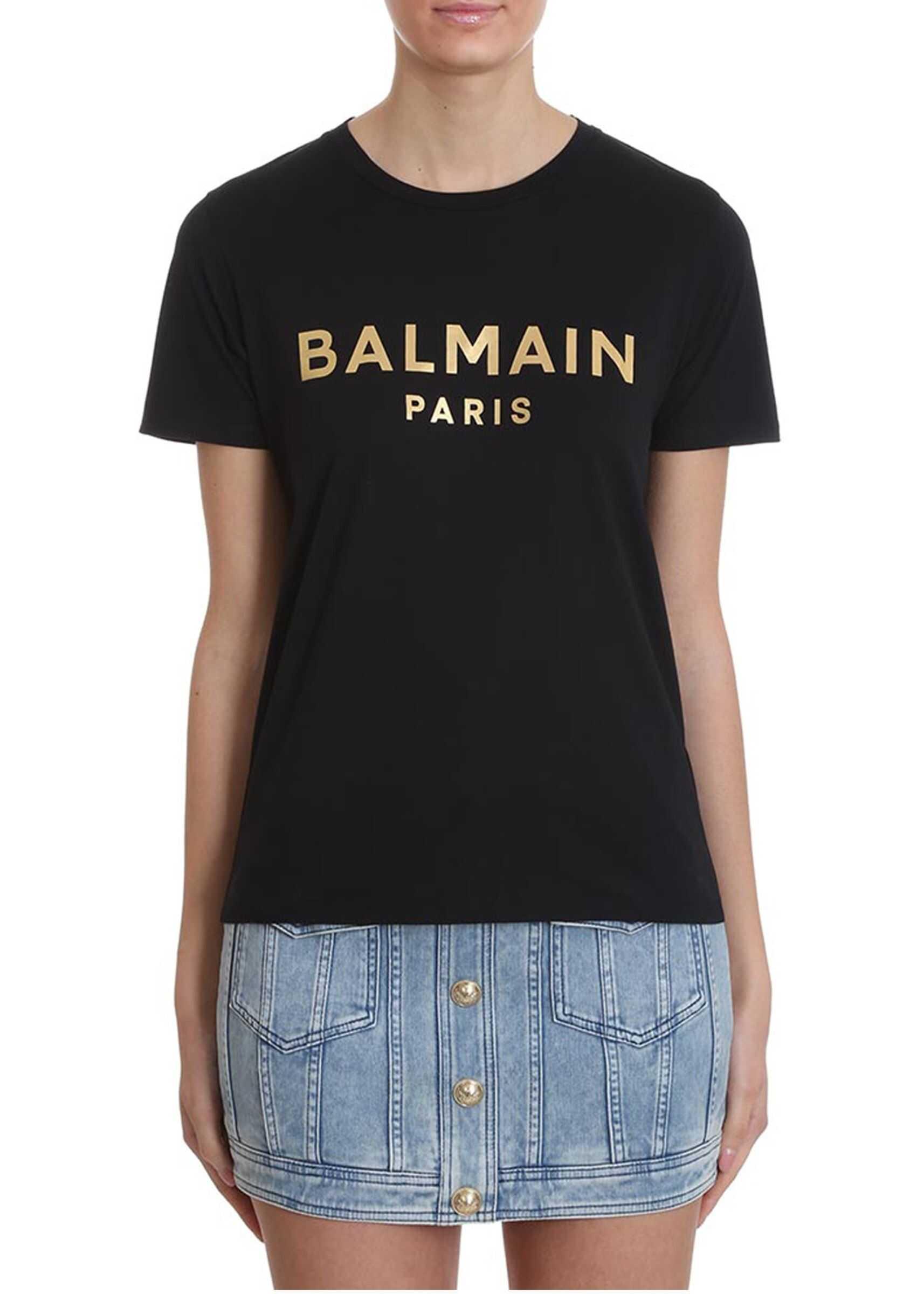Balmain Round Neck T-Shirt BLACK