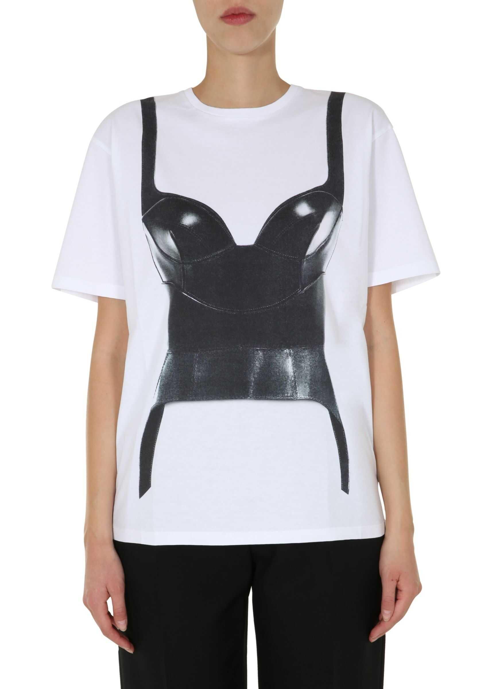 Alexander McQueen Oversize Fit T-Shirt WHITE
