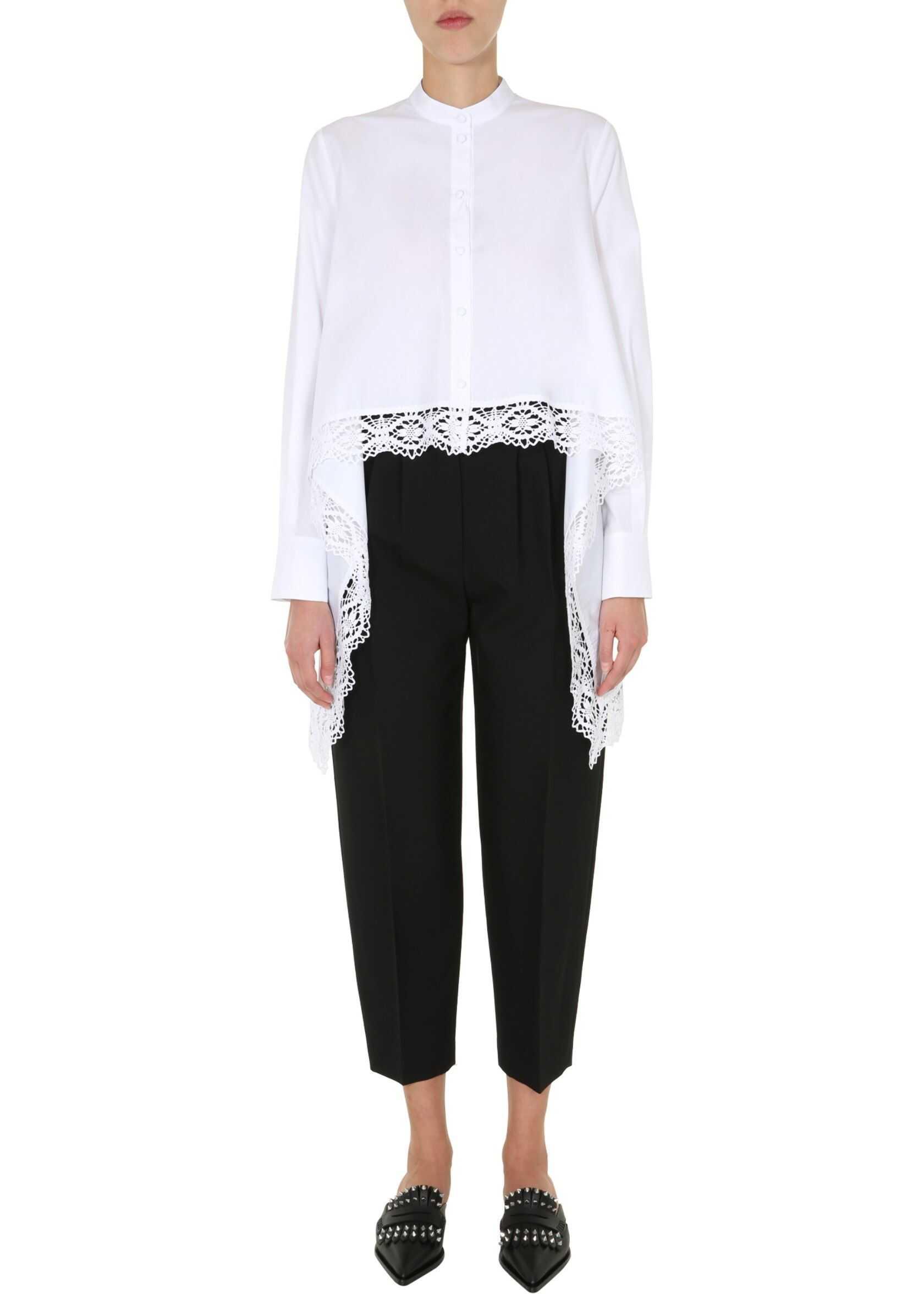 Alexander McQueen Asymmetric Shirt WHITE
