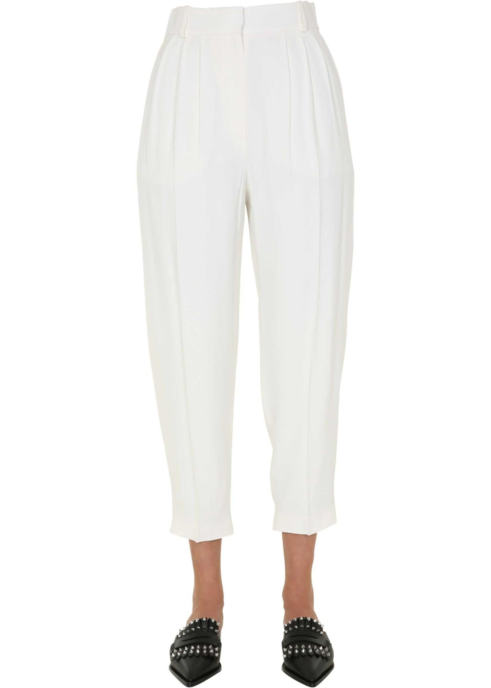 Alexander McQueen Pants With Pinces WHITE