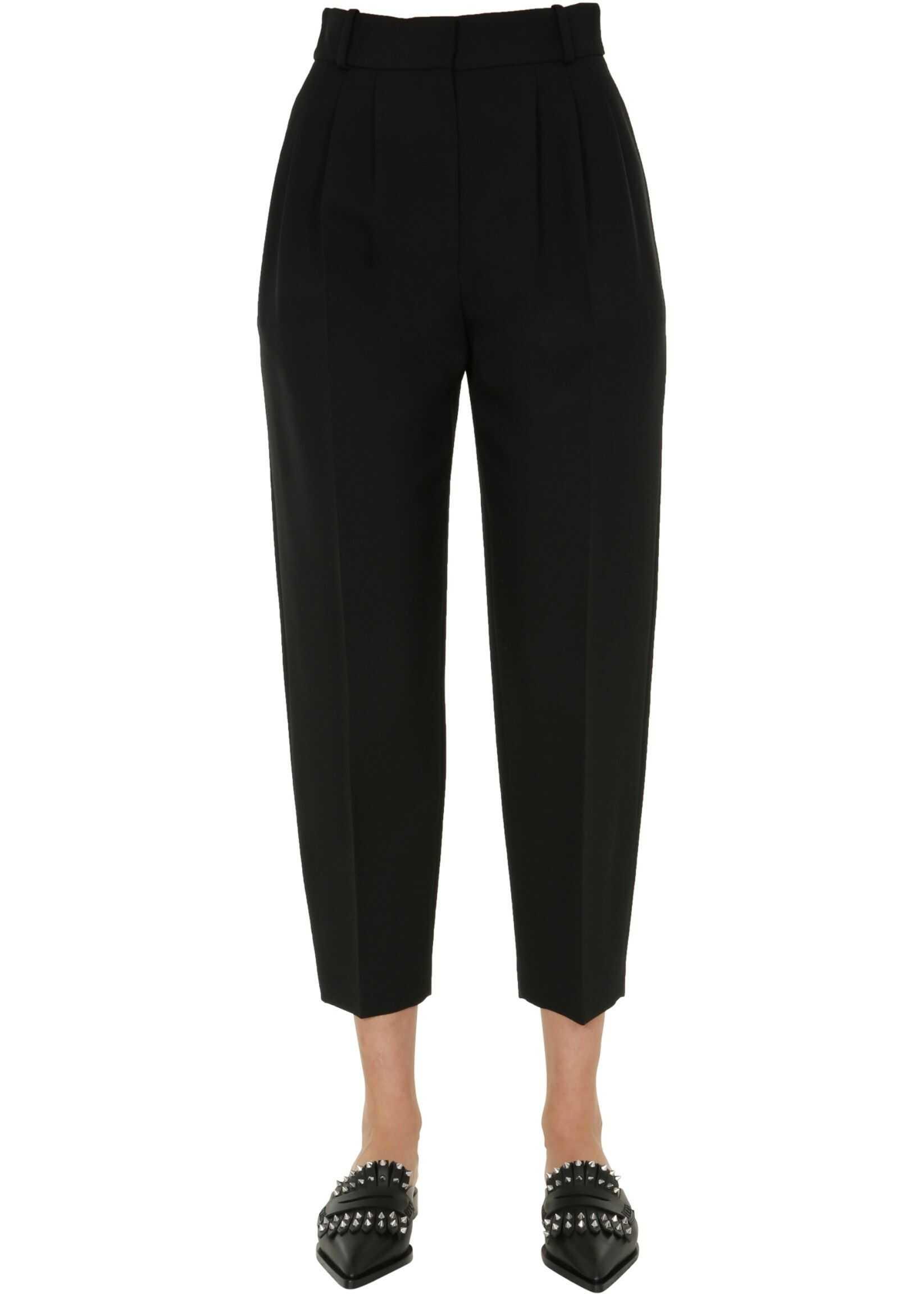 Alexander McQueen Pants With Pinces BLACK