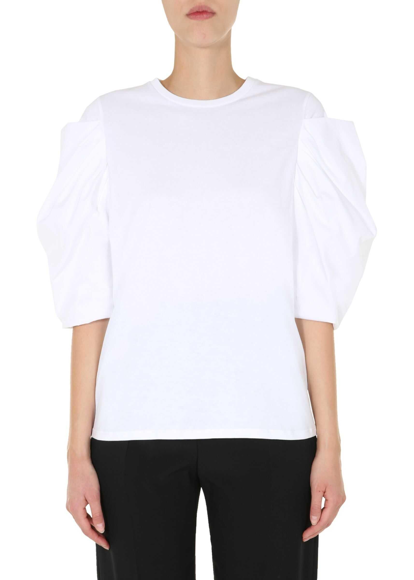 Alexander McQueen Round Neck T-Shirt WHITE