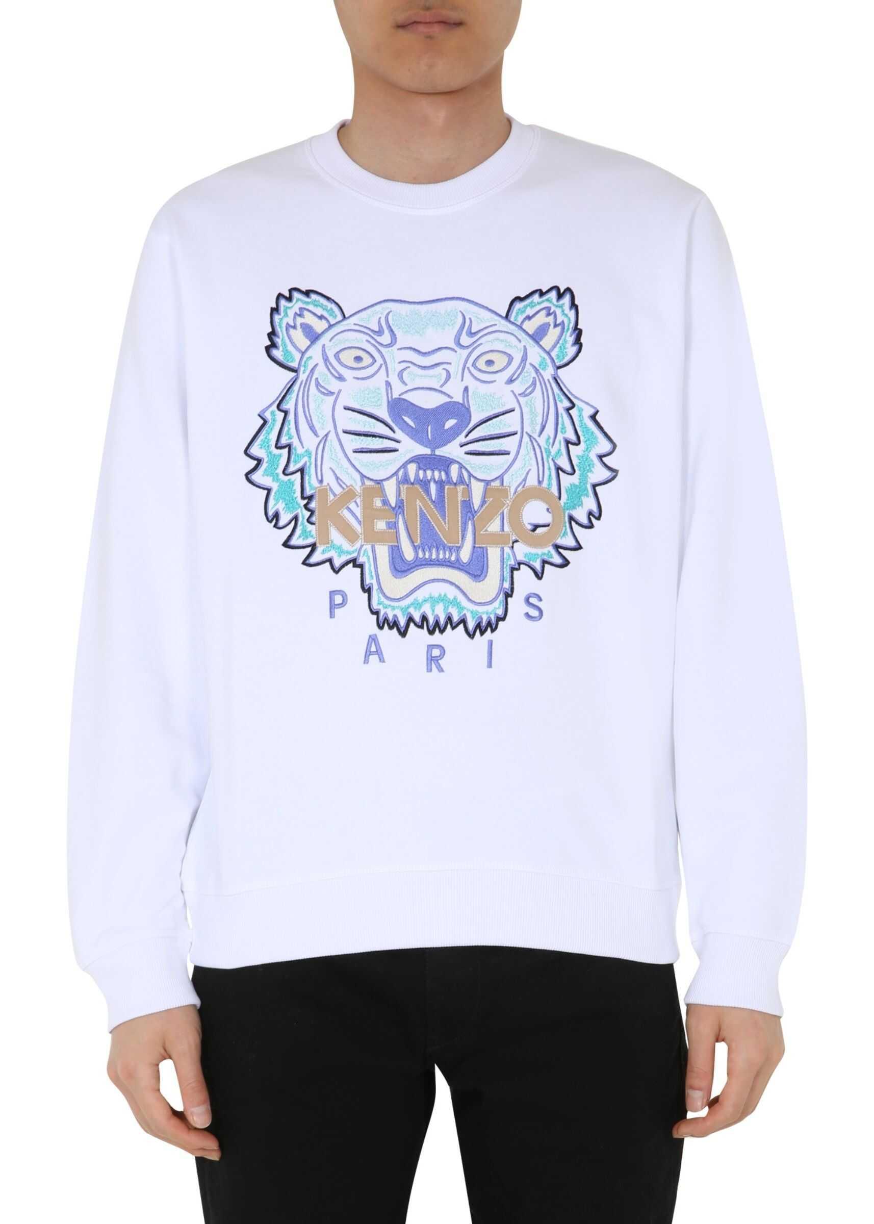Kenzo Round Neck Sweatshirt WHITE