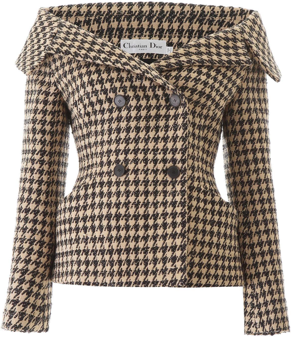 Dior Off-Shoulder Bar Jacket BEIGE
