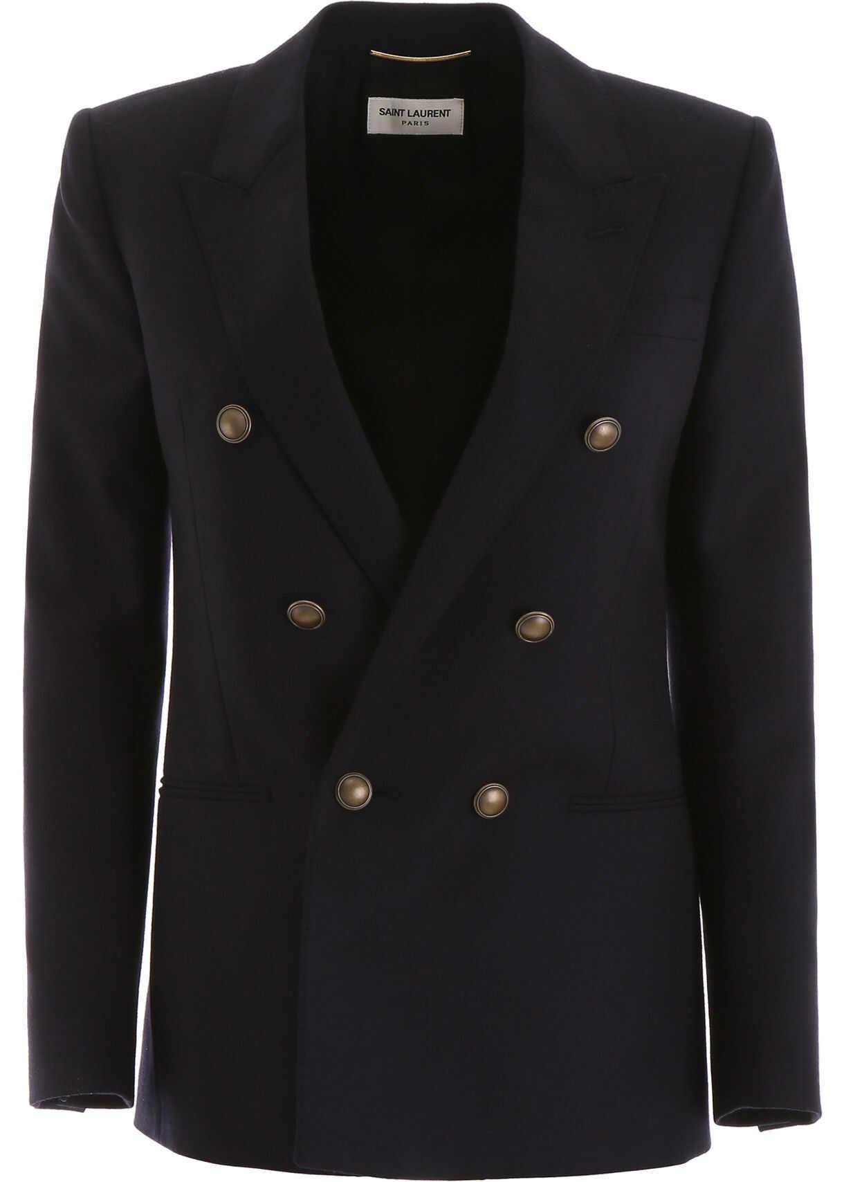 Saint Laurent Wool Blazer MARINE FONCE