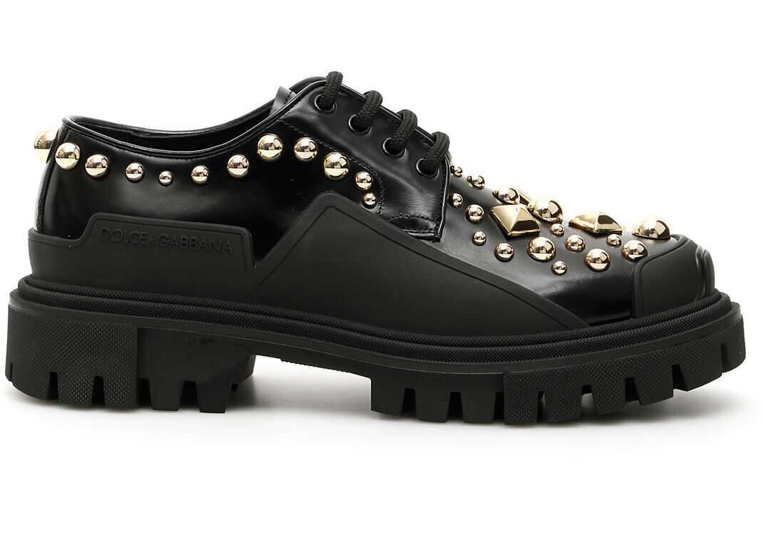 Dolce & Gabbana Hi Trekking Lace-Ups CK1700 AJ557 NERO MULTICOLOR imagine b-mall.ro