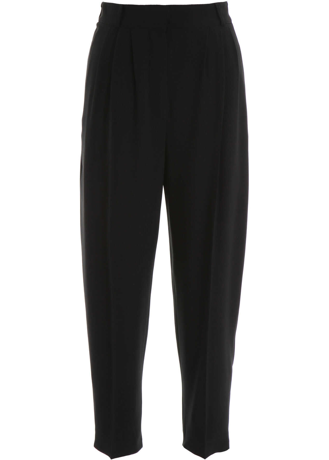 Alexander McQueen Cropped Cady Trousers BLACK