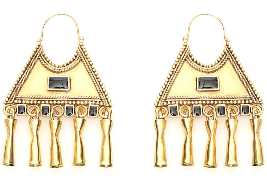 Saint Laurent Triangle Earrings OR LAITON NOIR