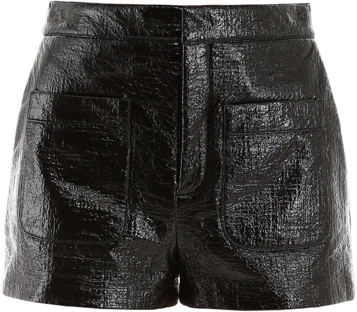Saint Laurent Faux Leather Short NOIR