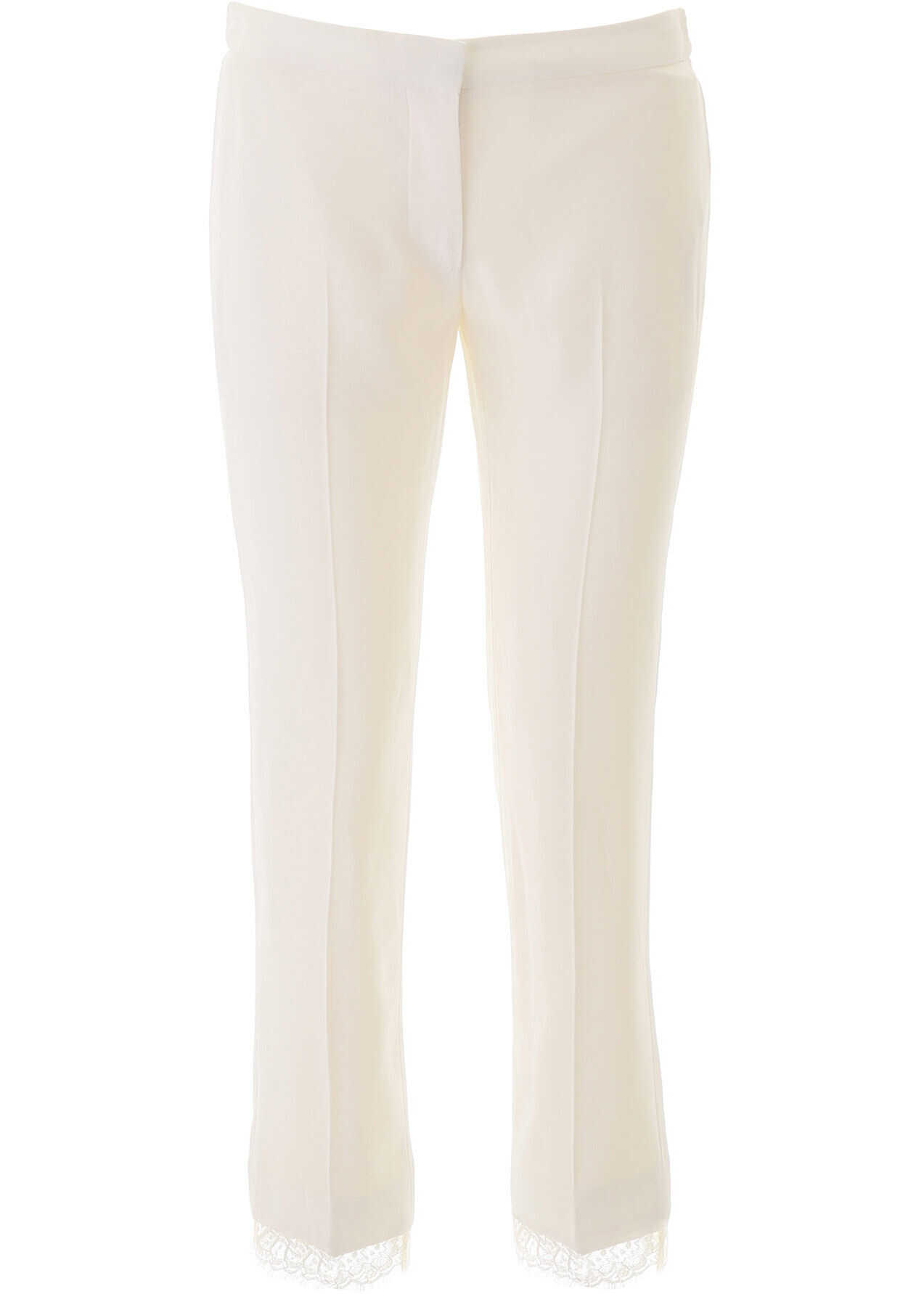 Alexander McQueen Cady Trousers With Lace LIGHT IVORY